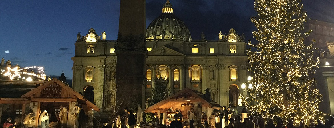 Vatican Christmas tree in St. Peter's Square dedicated to CBH this year