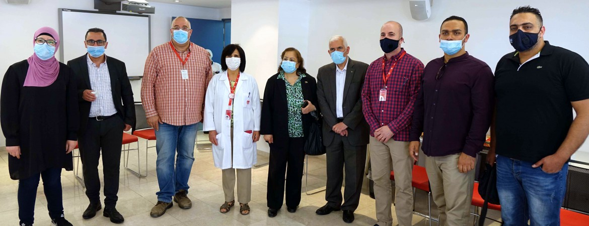 Palestinian Minister of Health Visits Caritas Baby Hospital