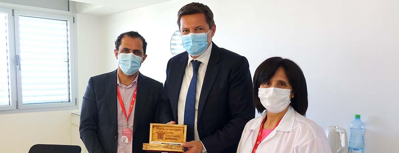 Swiss Representative Office Visits Caritas Baby Hospital