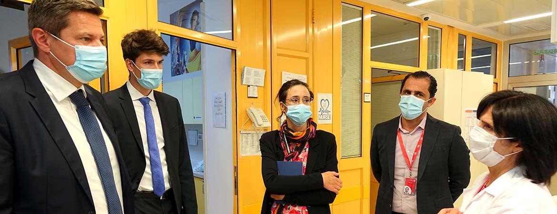 زيارة الممثلية السويسرية لمستشفى كاريتاس للأطفال