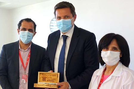Swiss Representative Office Visits Caritas Baby Hospital