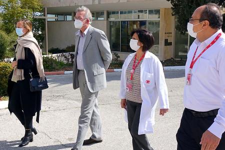الممثلية الألمانية تزور مستشفى كاريتاس للأطفال