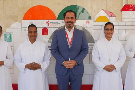 مستشفى كاريتاس للأطفال يستقبل راهبات الإحسان