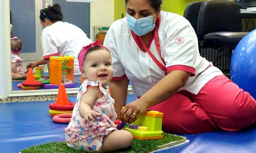 Thanks to Caritas Baby Hospital, Ella can now discover the world